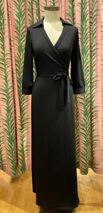 Load image into Gallery viewer, Wrap Maxi Dress in Black