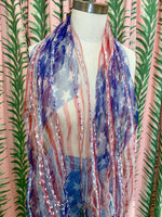Load image into Gallery viewer, American Flag Silk Scarf