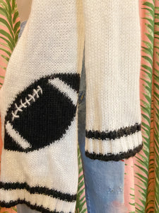 Football Scarf in Navy and White