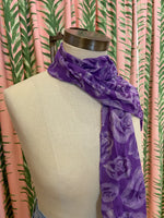 Load image into Gallery viewer, Sheer Silk Scarf in Purple Rose