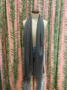 Cashmere Blend Pashmina in Grey
