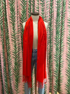 Cashmere Blend Pashmina in Red