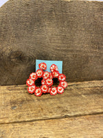 Load image into Gallery viewer, Round Sequin Earring in Coral