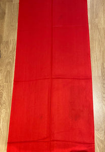Cashmere Blend Pashmina in Red- Discoloration