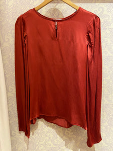 Ariana Pouf Sleeve Blouse in Washed Spice