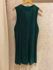 As You Pleats Dress in Winter Green