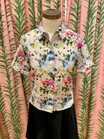 Load image into Gallery viewer, Ru Blouse in White Floral