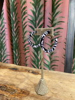 Load image into Gallery viewer, Zebra Acrylic Hoops