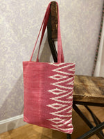 Load image into Gallery viewer, Savannah Ikat Tote in Pink