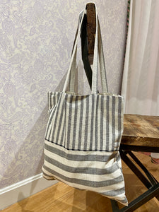 Valeria Market Tote in Plaid/Stripe