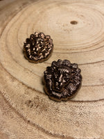Load image into Gallery viewer, Large Lion Stud Earrings in Chocolate