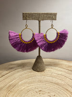 Load image into Gallery viewer, Lolita Fringe Earring in Purple