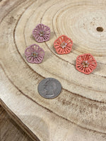 Load image into Gallery viewer, Rattan Flower Stud Earring in Mauve