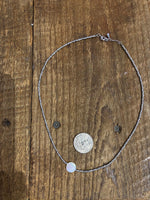 Load image into Gallery viewer, Iridescent Shell Center Choker in Grey