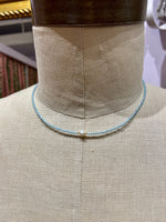 Load image into Gallery viewer, Shell Center Choker in Light Blue