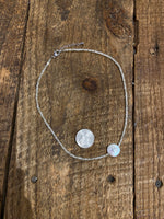 Load image into Gallery viewer, Iridescent Shell Center Choker in Sparkle Ivory