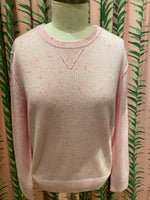 Load image into Gallery viewer, Cashmere Relaxed Sweatshirt Pullover in Pink Confetti