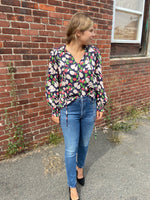 Load image into Gallery viewer, Java Blouse in Navy Pear