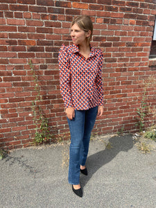 Marajo Blouse in Heart Print