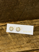 Load image into Gallery viewer, 24K Gold Vermeil Pronged Studs with Moonstone