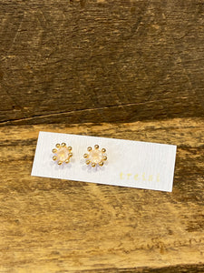 24K Gold Vermeil Pronged Studs with Rose Quartz