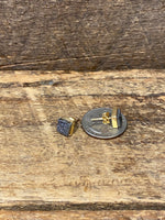 Load image into Gallery viewer, 24K Gold Vermeil Square Studs with Blue Chalcedony
