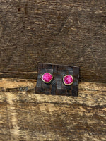 Load image into Gallery viewer, 24K Gold Vermeil Studs with Ruby