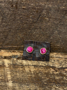 24K Gold Vermeil Studs with Ruby