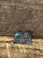 Load image into Gallery viewer, 24K Gold Vermeil Studs with Labradorite