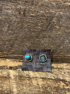 24K Gold Vermeil Studs with Labradorite