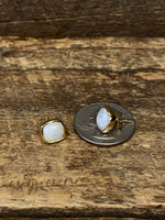Load image into Gallery viewer, 24K Gold Vermeil Studs with Moonstone