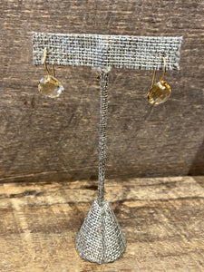 24K Gold Vermeil Stone Drop Earrings with Citrine