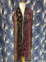 Load image into Gallery viewer, Reversible Cashmere Scarf in Rainbow Leopard