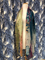 Load image into Gallery viewer, Reversible Cashmere Scarf in Teal Streams