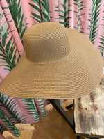 Load image into Gallery viewer, Floppy Straw Hat in Khaki