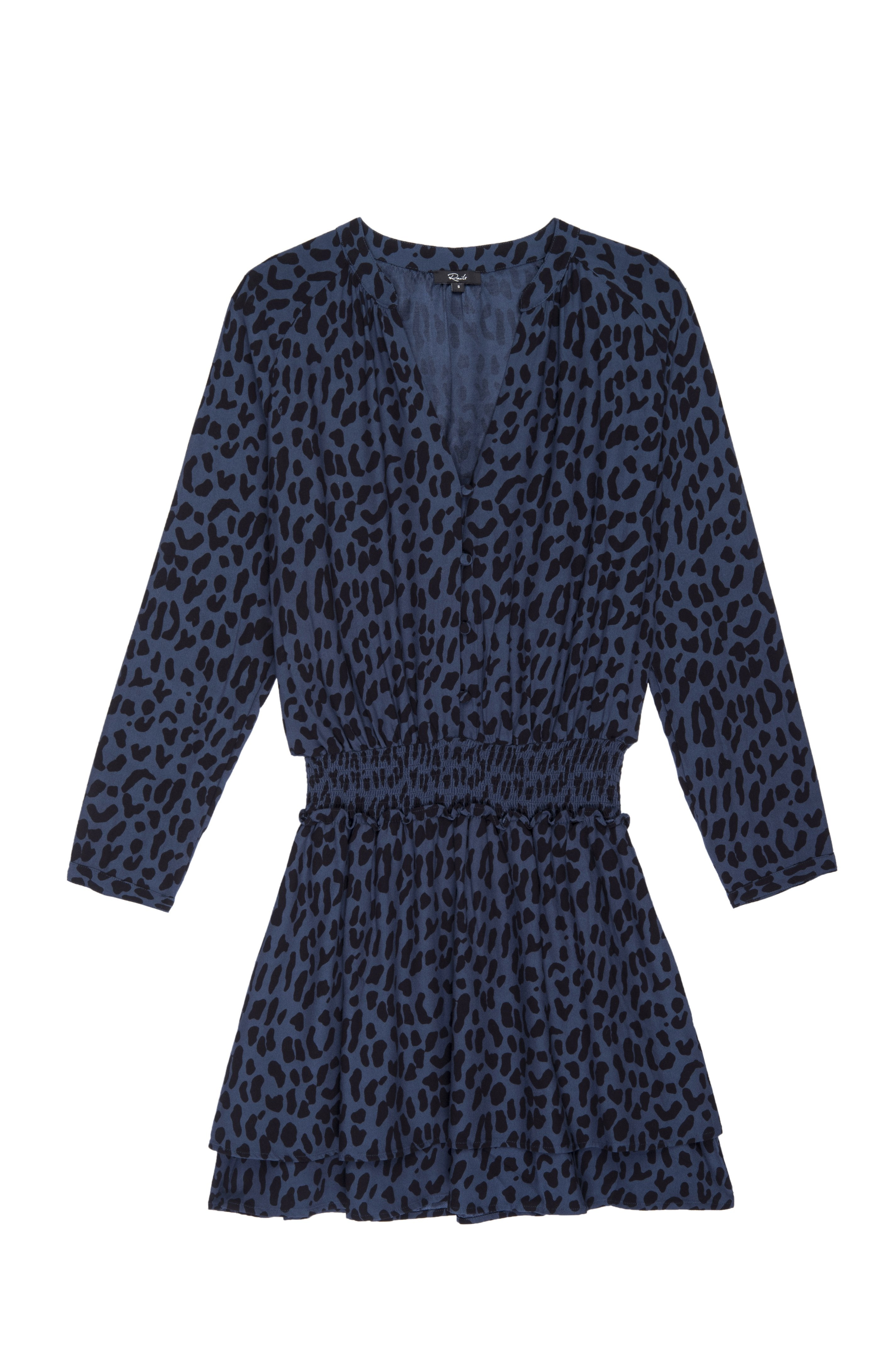 Jasmine Dress in Azure Leopard