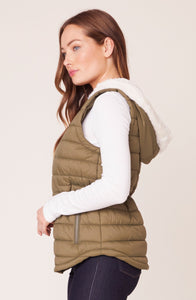 Take On Me Vest in Dark Sage