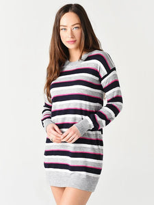 Vibrant Stripe Sweater Dress in Multi