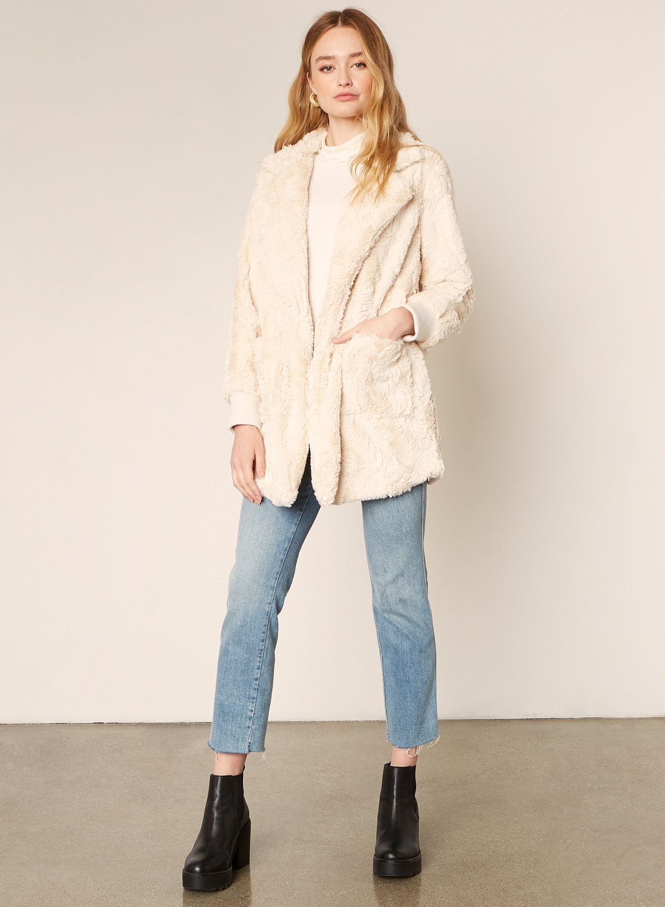 Swirl Next Door Jacket in Oatmeal