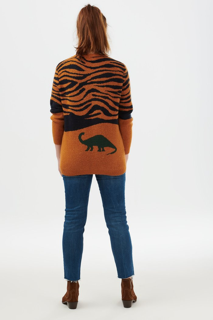 Laverne Lost Dinosaur Sweater