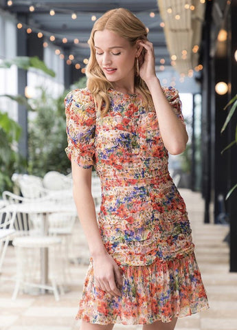 Kayleigh Dress in Blossom Pink Multi