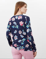 Load image into Gallery viewer, Keegan Crepe Shell Top in Navy Floral