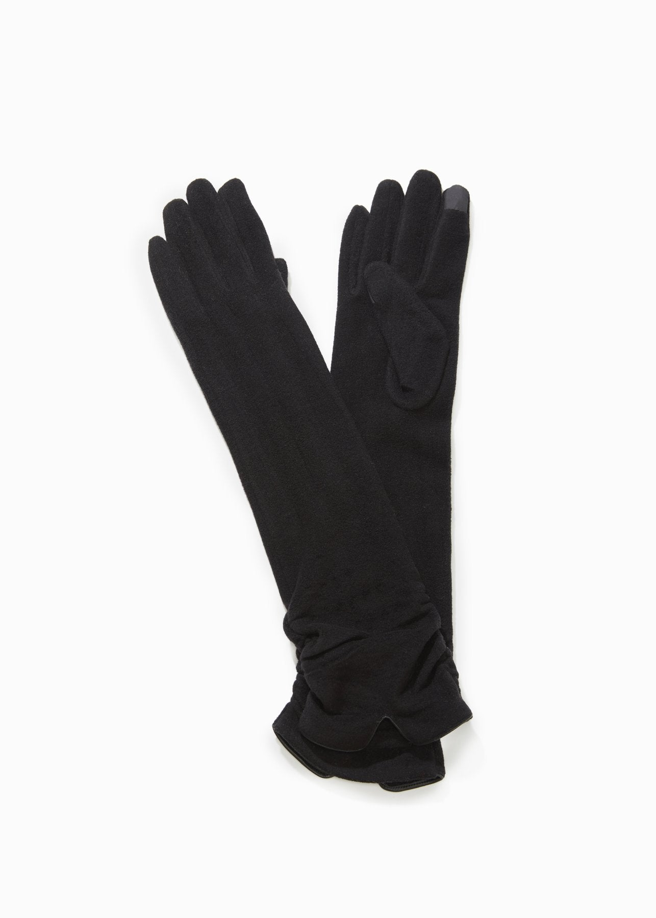 Basic Extra Long Gloves in Black
