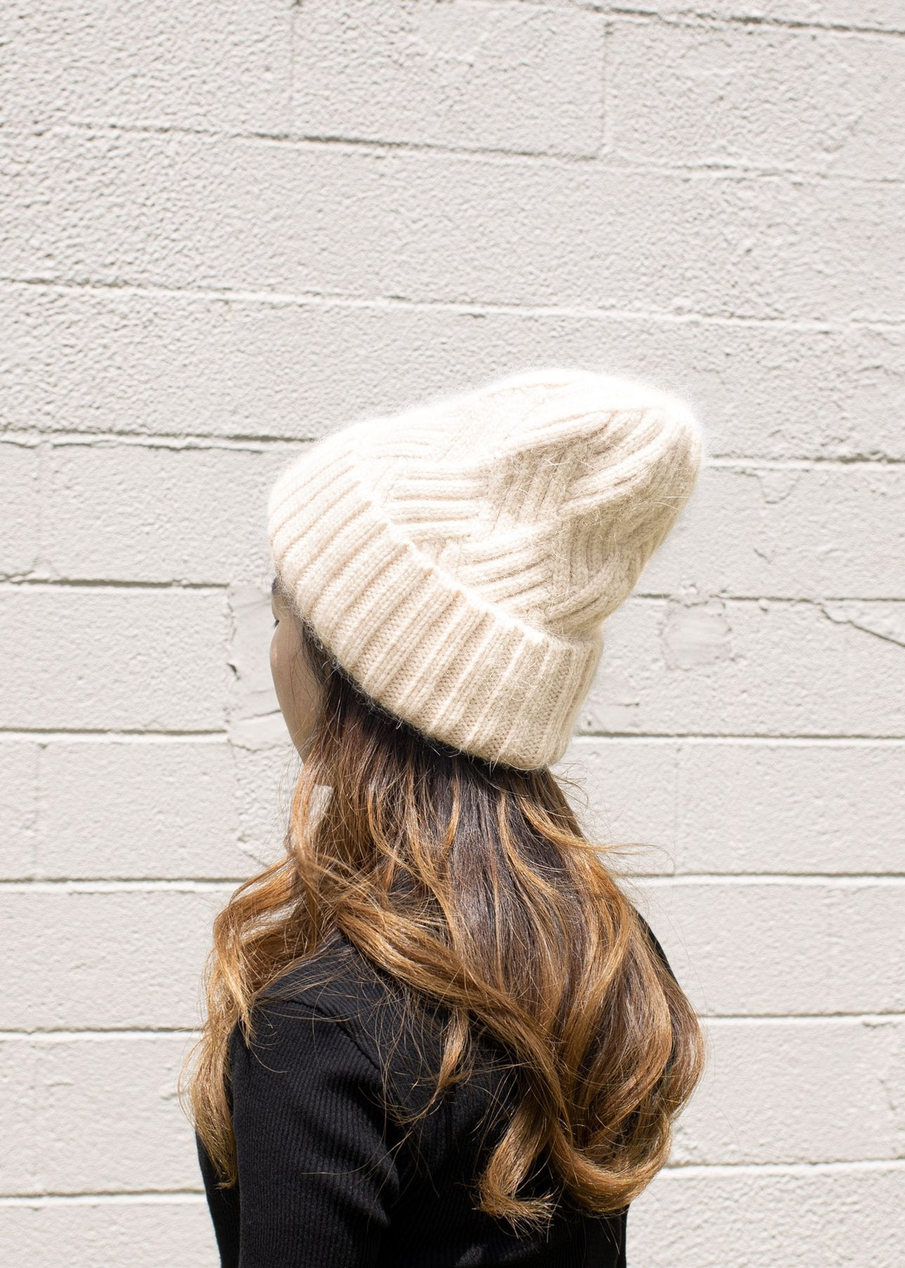 Chevy Woven Beanie in Blush