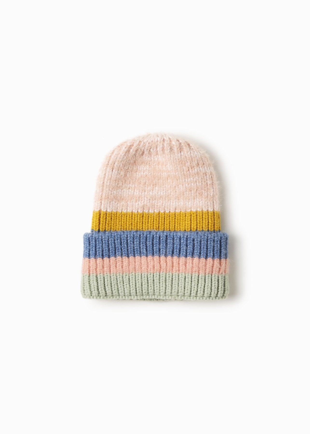 Candy Striped Hat in Blush Combo