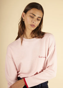 Naela Sweater in Light Pink