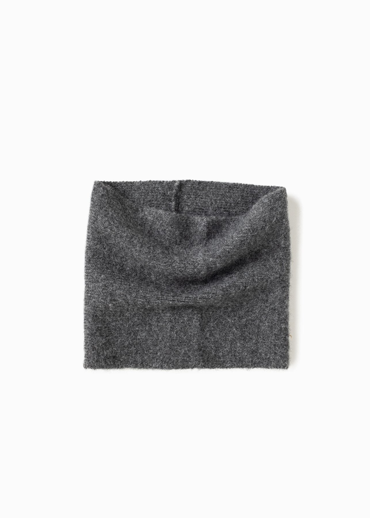 Basic Neck Warmer in Charcoal