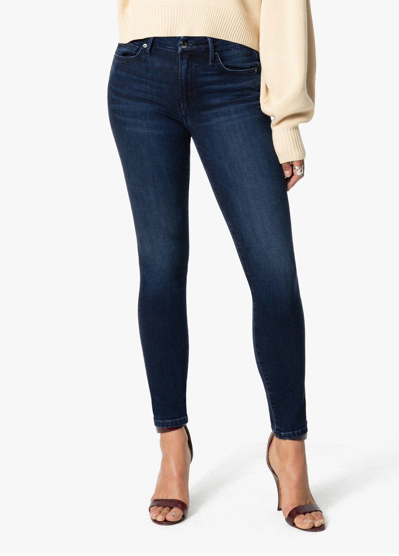 Mid Rise Skinny Ankle Jean in Marlana