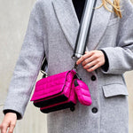 Load image into Gallery viewer, Tammy Mini Bag in Fuchsia Noir