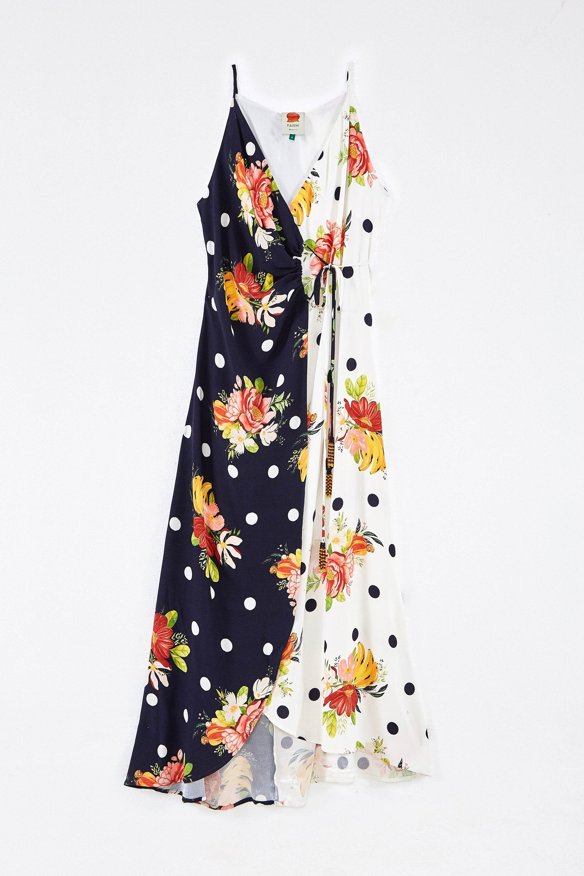 Mixed Nanaju Wrap Dress